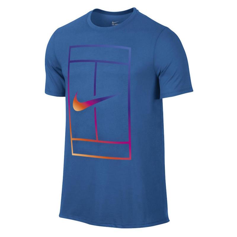Camiseta Nike Court Iridescent - Azul - Planeta Tenis 7593918eeb340