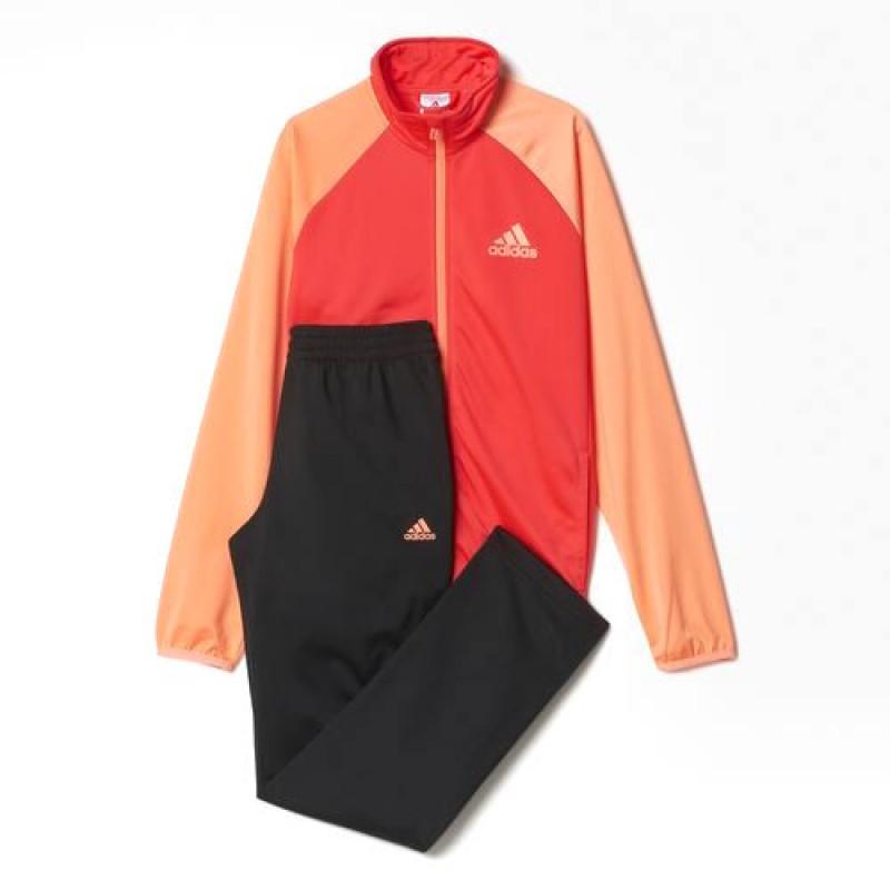 2ec42d64f24 Agasalho Adidas Infantil YB TS Entry OH - Shock Red Pto - Planeta Tenis