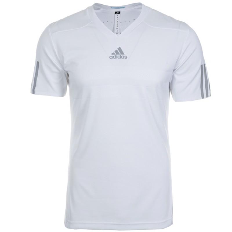 babd3d8f2f1e8 Camiseta Adidas Barricade Climachill - Branca