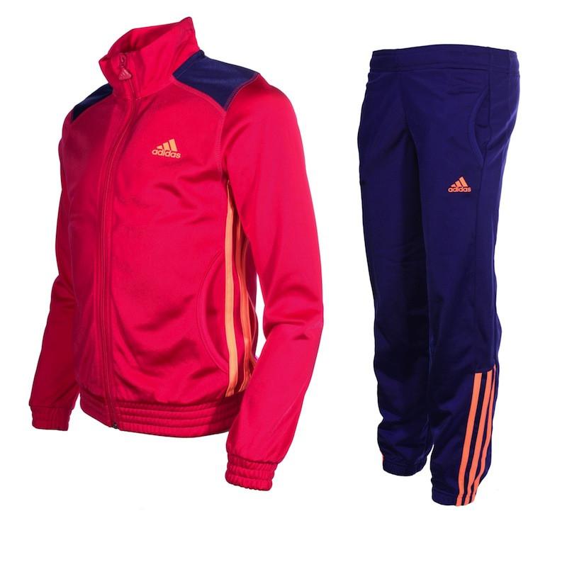 3ac5dbe6345 Agasalho Adidas Infantil ESS PES - Rosa Azul - Planeta Tenis